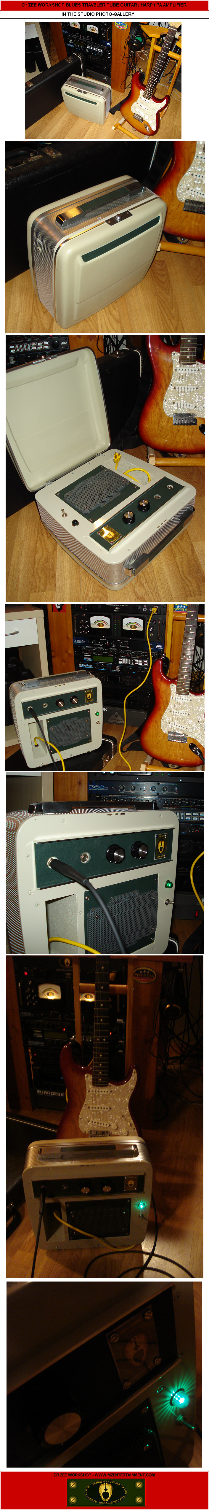 mze electroarts entertainment mzentertainment com dr zeeblues traveler guitar amp [in the studio photo gallery]