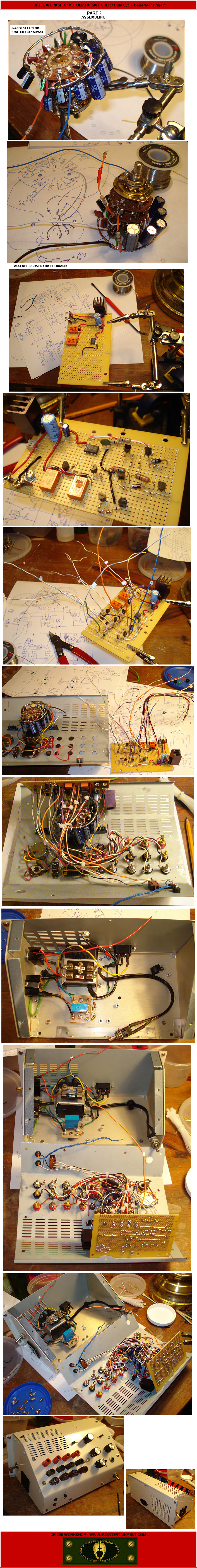Mze Electroarts Entertainment Dr Zee Duty Cycle Selector Electronics Project Workshop Automatic Switcher Assembling